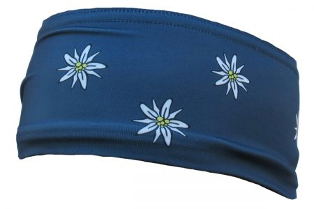Edelweiss headband steel blue